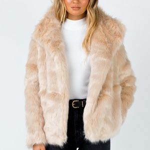 Princess Polly Lioness Jagger Faux Fur Jacket Coat
